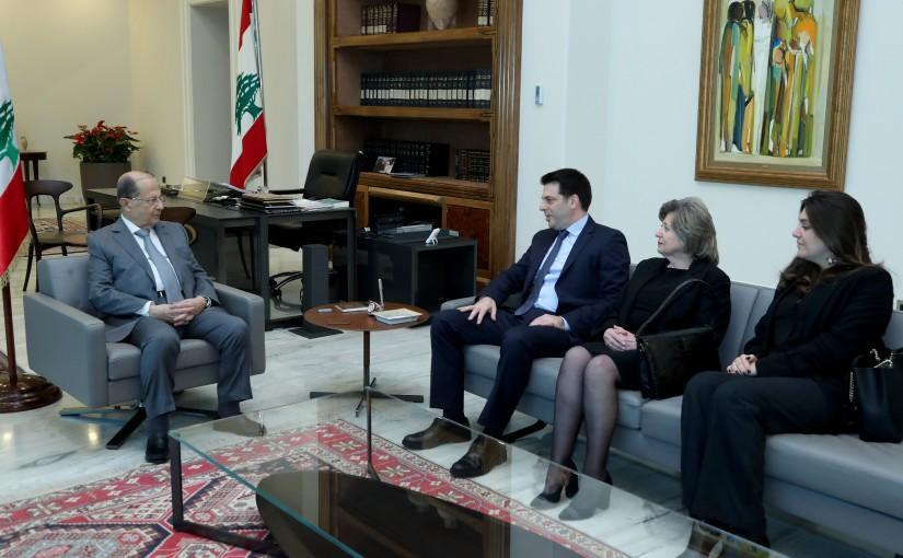 President Michel Aoun meets Late Family Dr. Pascal Elias Azam.