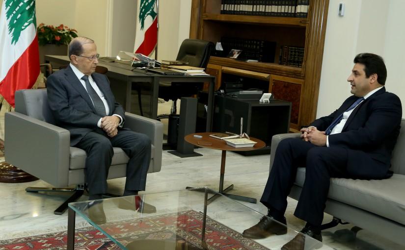 President Michel Aoun meets Ambassador Hassan Abbas.
