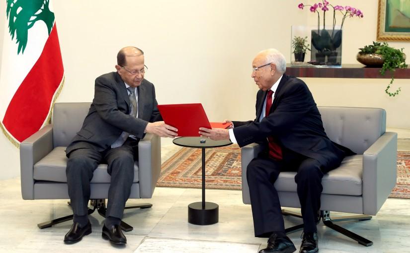 President Michel Aoun meets Minister Al-Azhar Al-Qarawi Al-Shabi, Personal Representative of the President of the Republic of Tunisia.