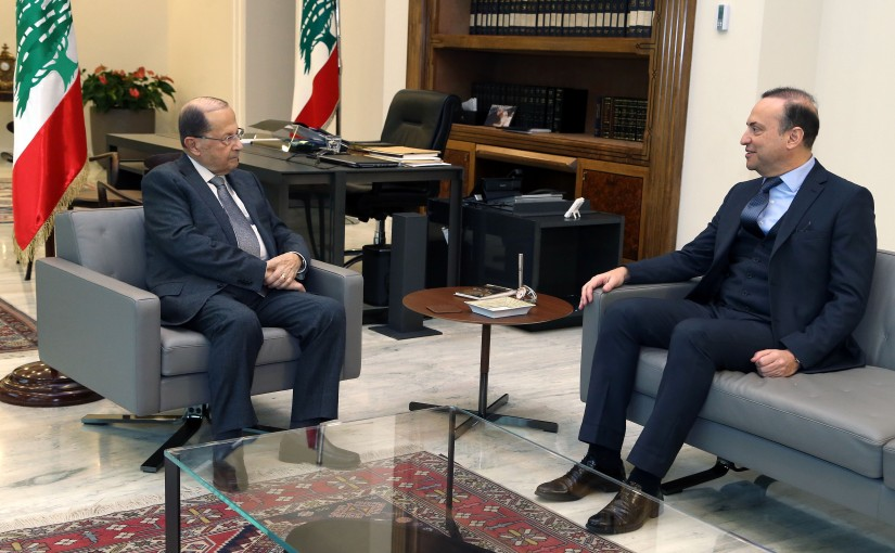 President Michel Aoun meets the Ambassador of Lebanon to the Kingdom of Saudi Arabia Ambassador Fawzi Kabara.