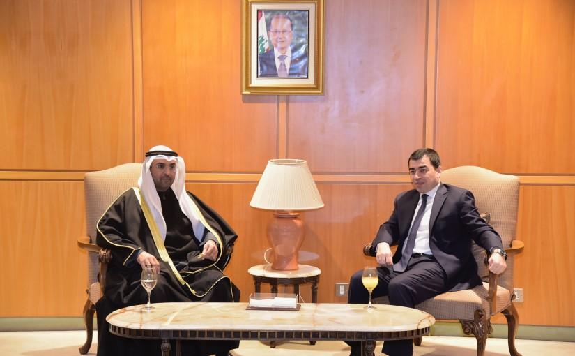 Minister Cesar abi Khalil meets Kuwaiti Delegation