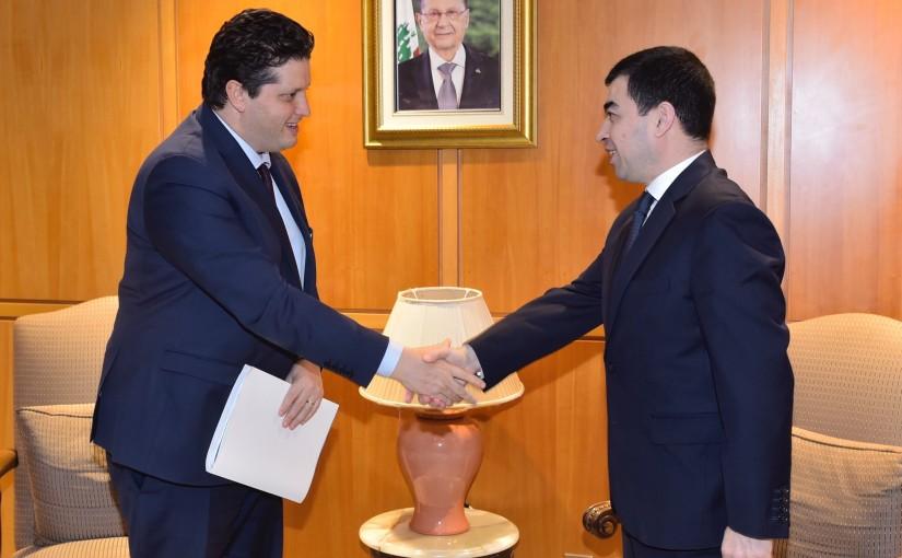 Minister Cesar abi Khalil meets Tunis Delegation