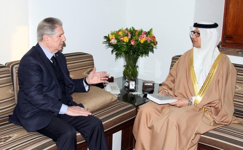 Former Pr Amine Gemayel meets Saudi Ambassador