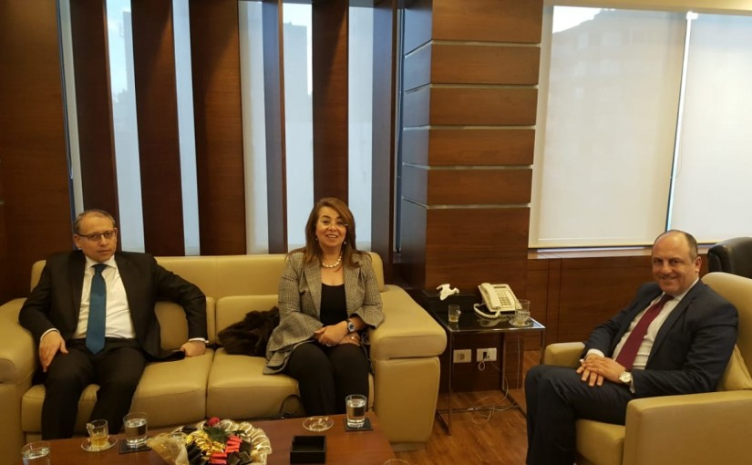 Minister Pierre abi assi meets a Egyptian Delegation