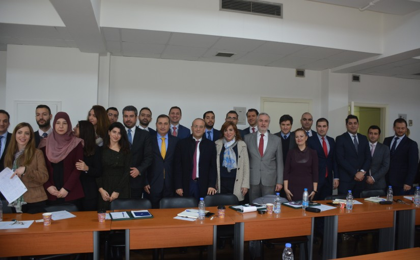 Minister Raed Khoury meets a Delegation from Lebanese Diplomats