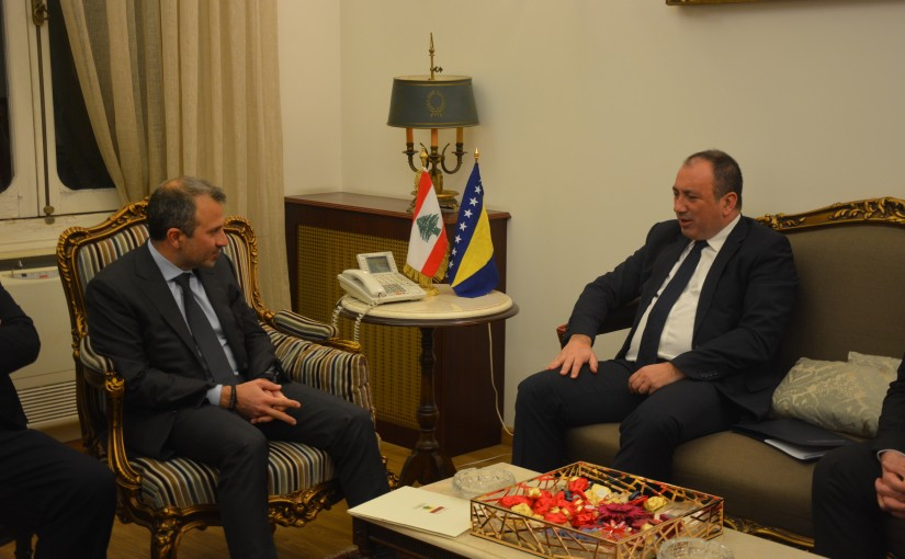 Minister Gebran Bassil meets Bosnia and Herzegovina Minister of Foreign affairs