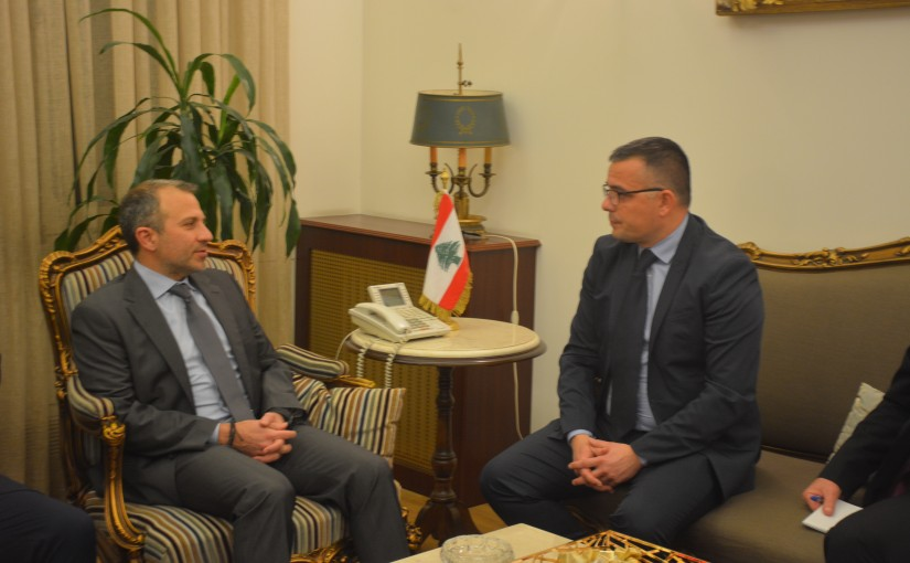Minister Gebran Bassil meets Serbian Minister of Agriculture