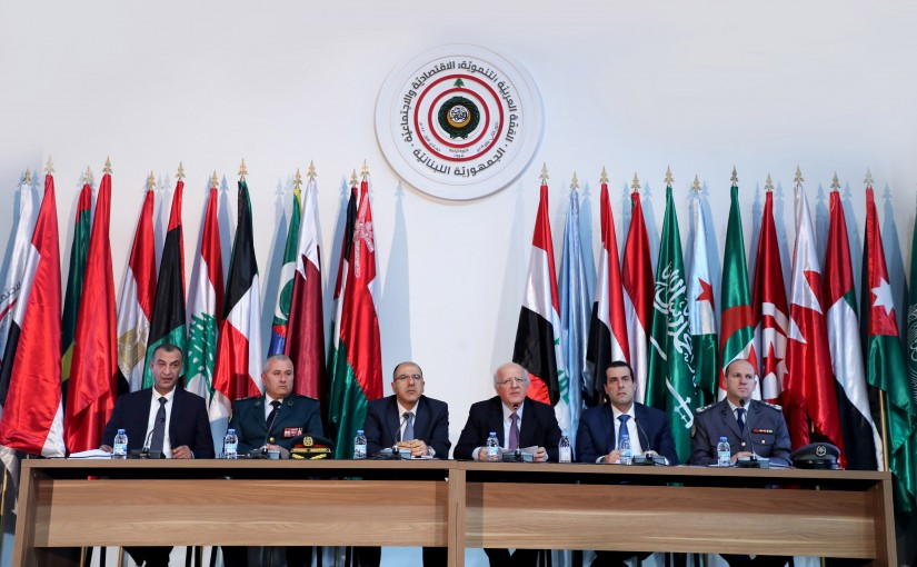 Press conference of the Higher Committee of the Arab Summit for Economic and Social Development.