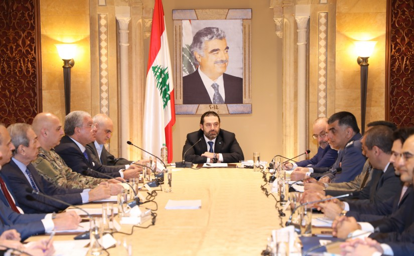 Pr Minister Saad Hariri Heading a Meeting for Raric Hariri Airport Condition