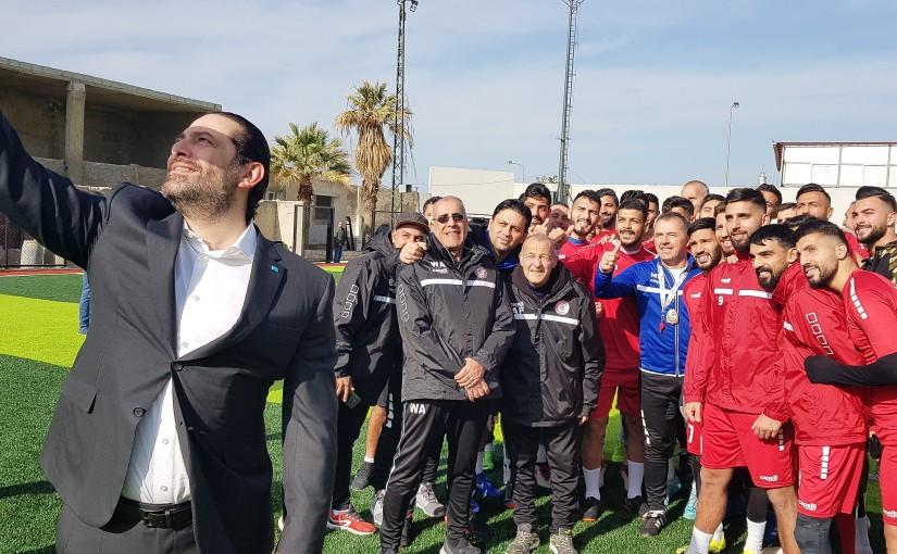 Pr Minister Saad Hariri Visits Lebanese Football Team