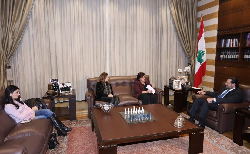 Pr Minister Saad Hariri meets Mr Fadia Kiwan