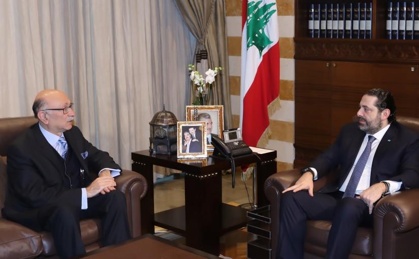 Pr Minister Saad Hariri meets Mr Andre Chidiac
