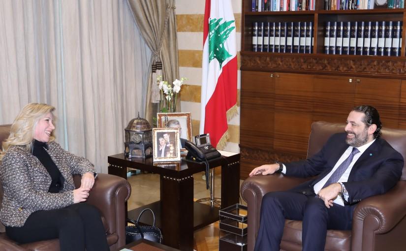 Pr Minister Saad Hariri meets MP Roula Tabech
