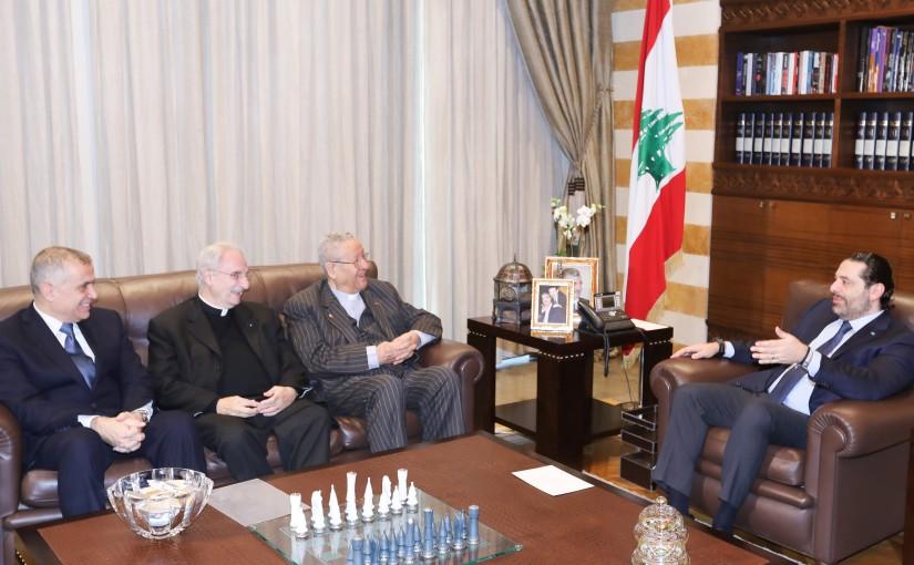 Pr Minister Saad Hariri meets Father Salim Sahyoun