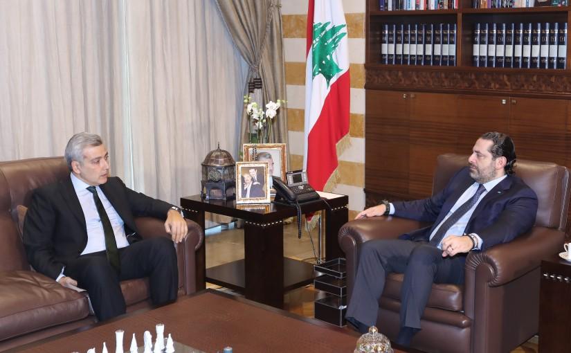 Pr Minister Saad Hariri meets Ambassador Rami Mourtada