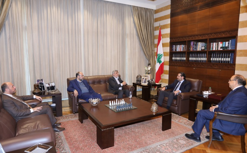 Pr Minister Saad Hariri meets a Delegation from Hamass