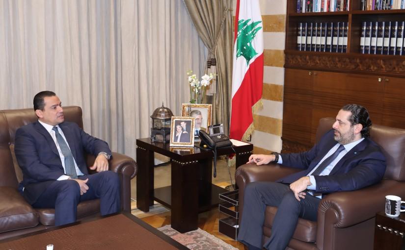 Pr Minister Saad Hariri meets MP Faycal el Sayegh