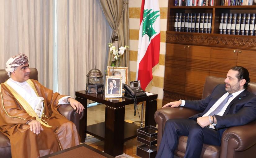 Pr Minister Saad Hariri meets Oman Ambassador