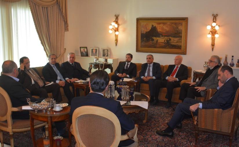 Meeting at  Former Minister Faycal Karami