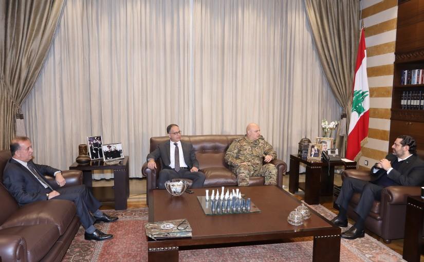 Pr Minister Saad Hariri meets Head of Lebanese Army Joseph Aoun