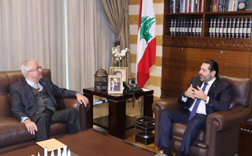 Pr Minister Saad Hariri meets Former MP Amar Houry