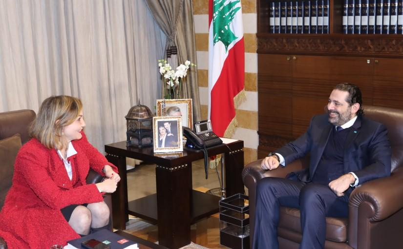Pr Minister Saad Hariri meets MP Dima Jamali