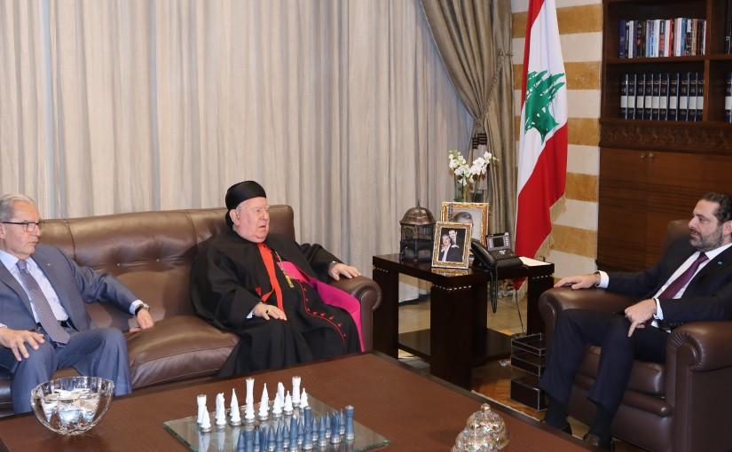 Pr Minister Saad Hariri meets Bishop Boulos Mattar