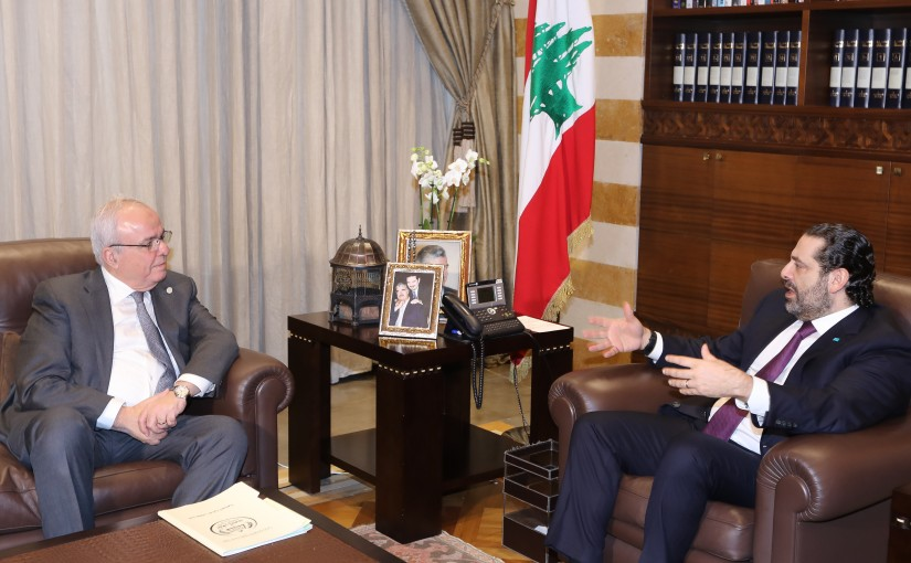 Pr Minister Saad Hariri meets Mr Faycal Seno