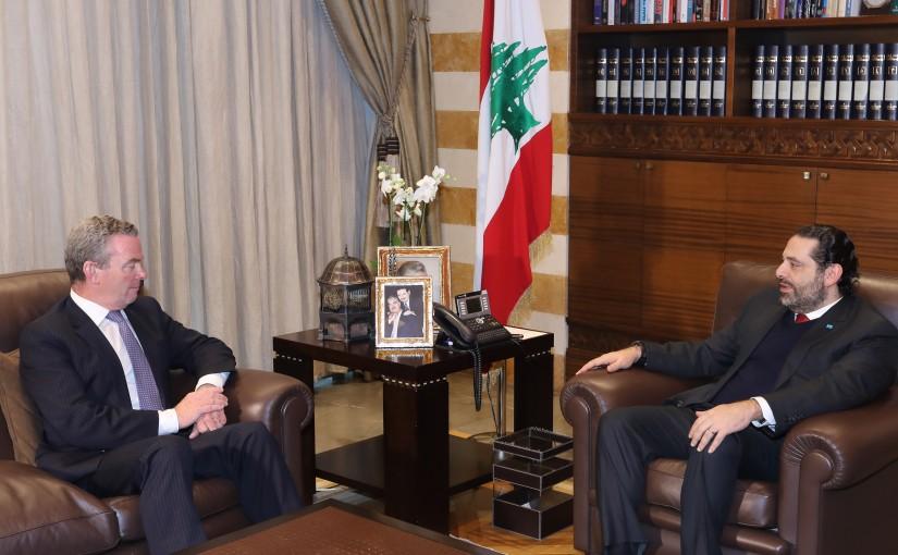 Pr Minister Saad Hariri meets Australian Minister of Defense