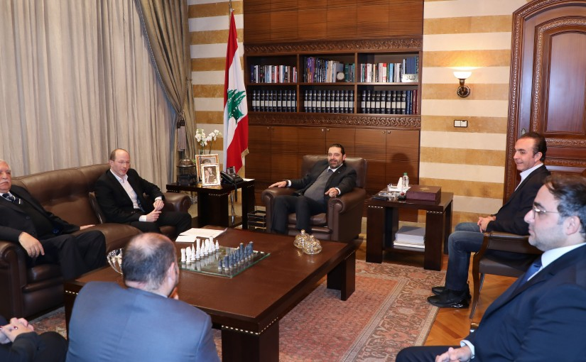 Pr Minister Saad Hariri meets Mr Mazen Tabbara with a Delegation