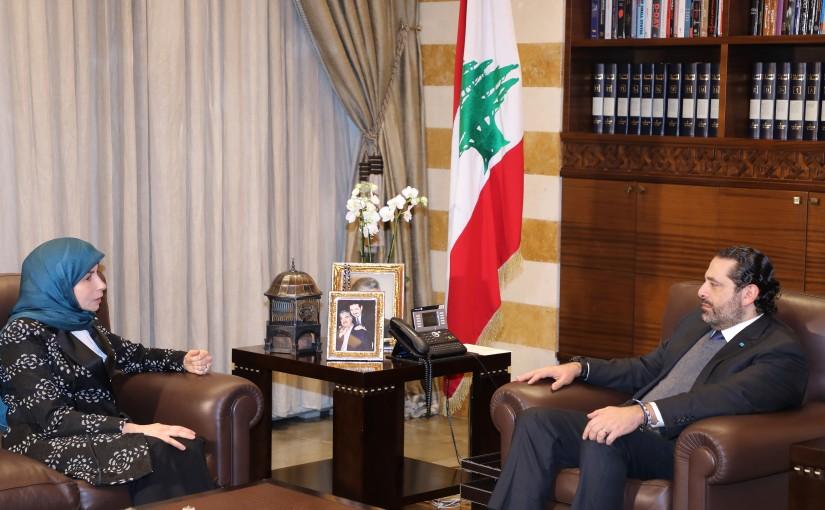 Pr Minister Saad Hariri meets Minister Anaya Ezzedine