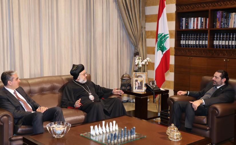 Pr Minister Saad Hariri meets Bishop Daniel Kourieh