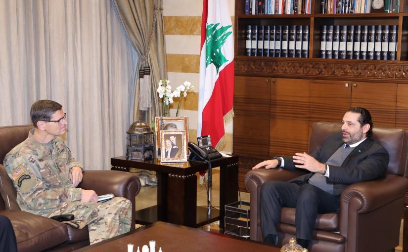 Pr Minister Saad Hariri meets General Joseph Vottel