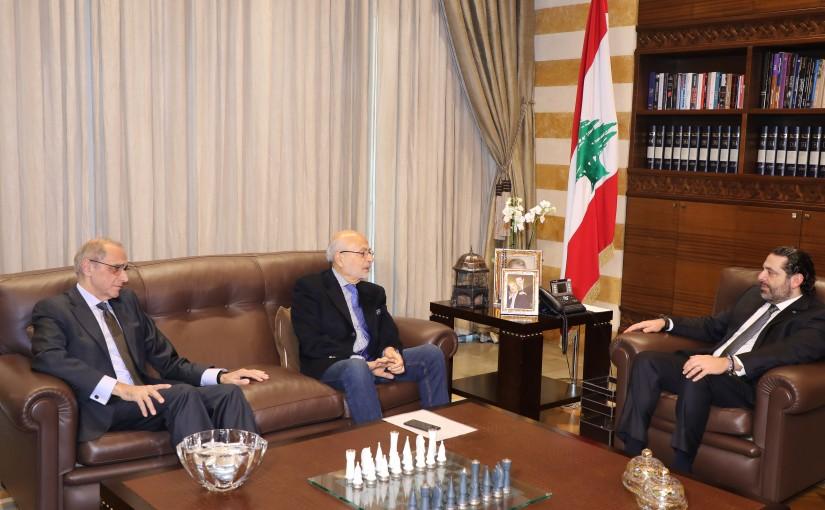 Pr Minister Saad Hariri meets Former Minister Akram Chehayeb