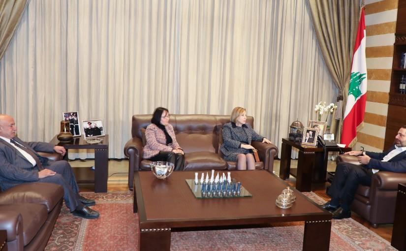 Pr Minister Saad Hariri meets Judge Fatemah Ouwaidat