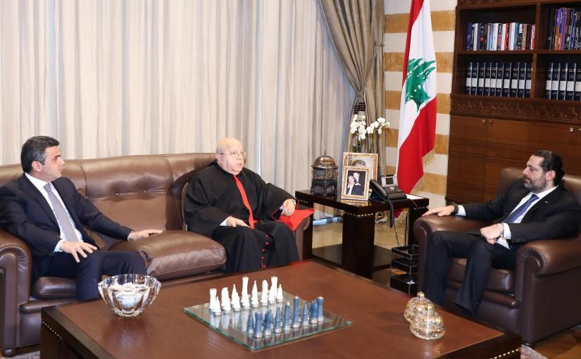 Pr Minister Saad Hariri meets Bishops Nabil Endari with a Delegation