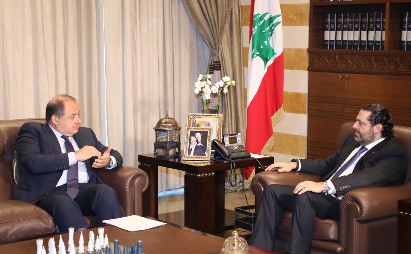 Pr Minister Saad Hariri meets Mr Charles Arbid