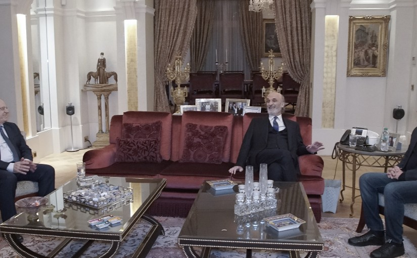 Pr Minister Saad Hariri meets Head of Lebanese forces samir Geagea