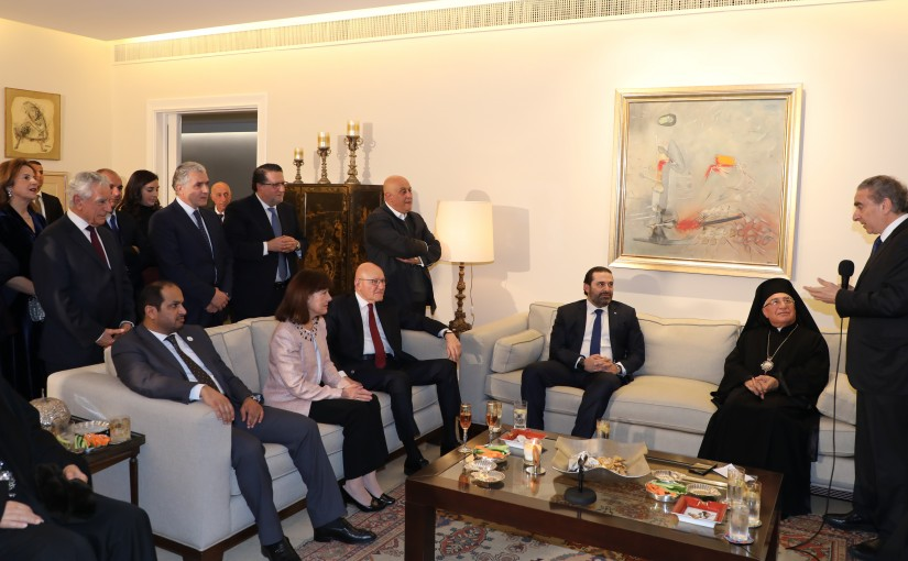 Dinner Hosted by Minister Michel Pharaon in Honors of Pr Minister Saad Hariri