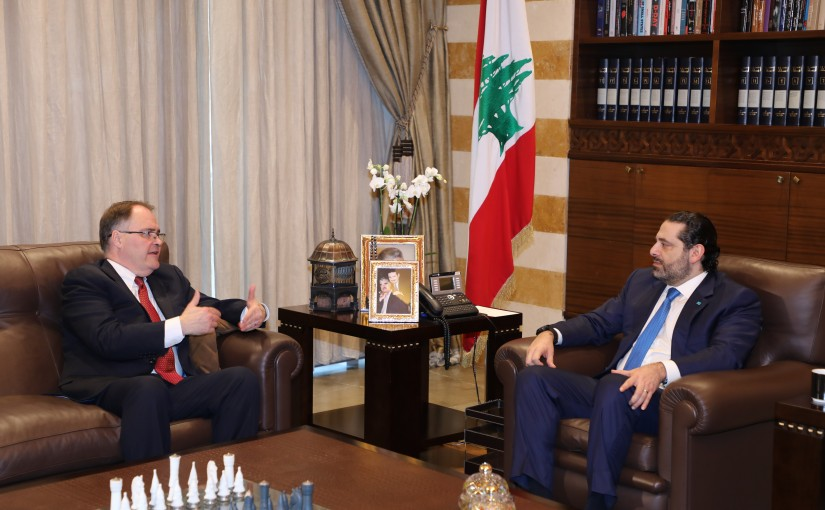 Pr Minister Saad Hariri meets Mr Darill Mandess
