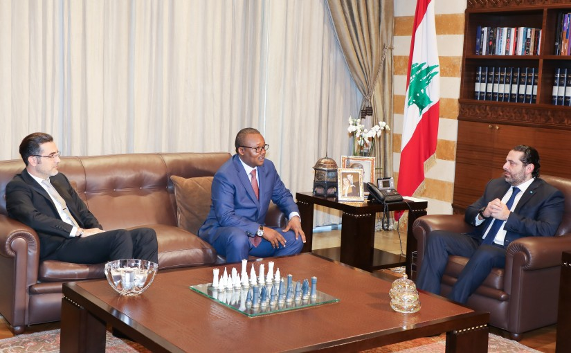 Pr Minister Saad Hariri meets Former Pr Minister of Porkina Fasso
