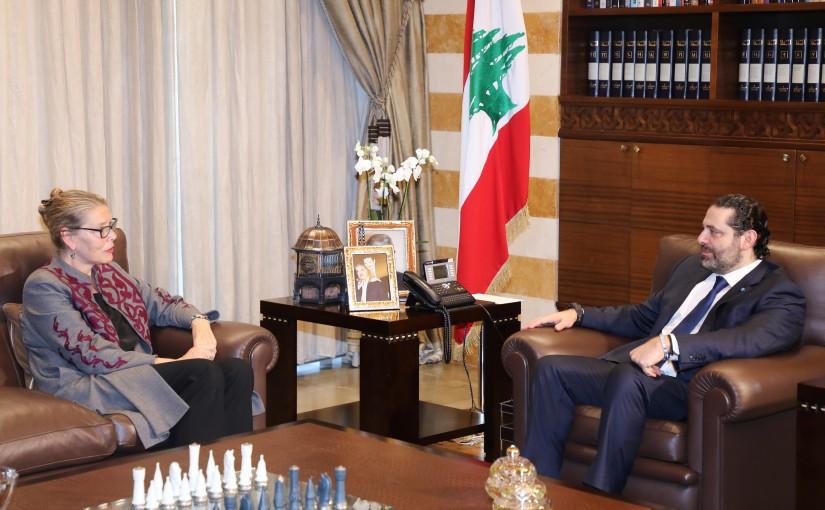 Pr Minister Saad Hariri meets Mrs Pernille Cardel