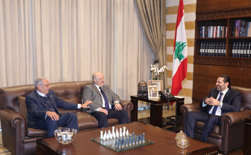 Pr Minister Saad Hariri meets Former MP Riad Rahal