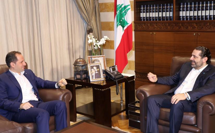 Pr Minister Saad Hariri meets MP Sami Gemayel