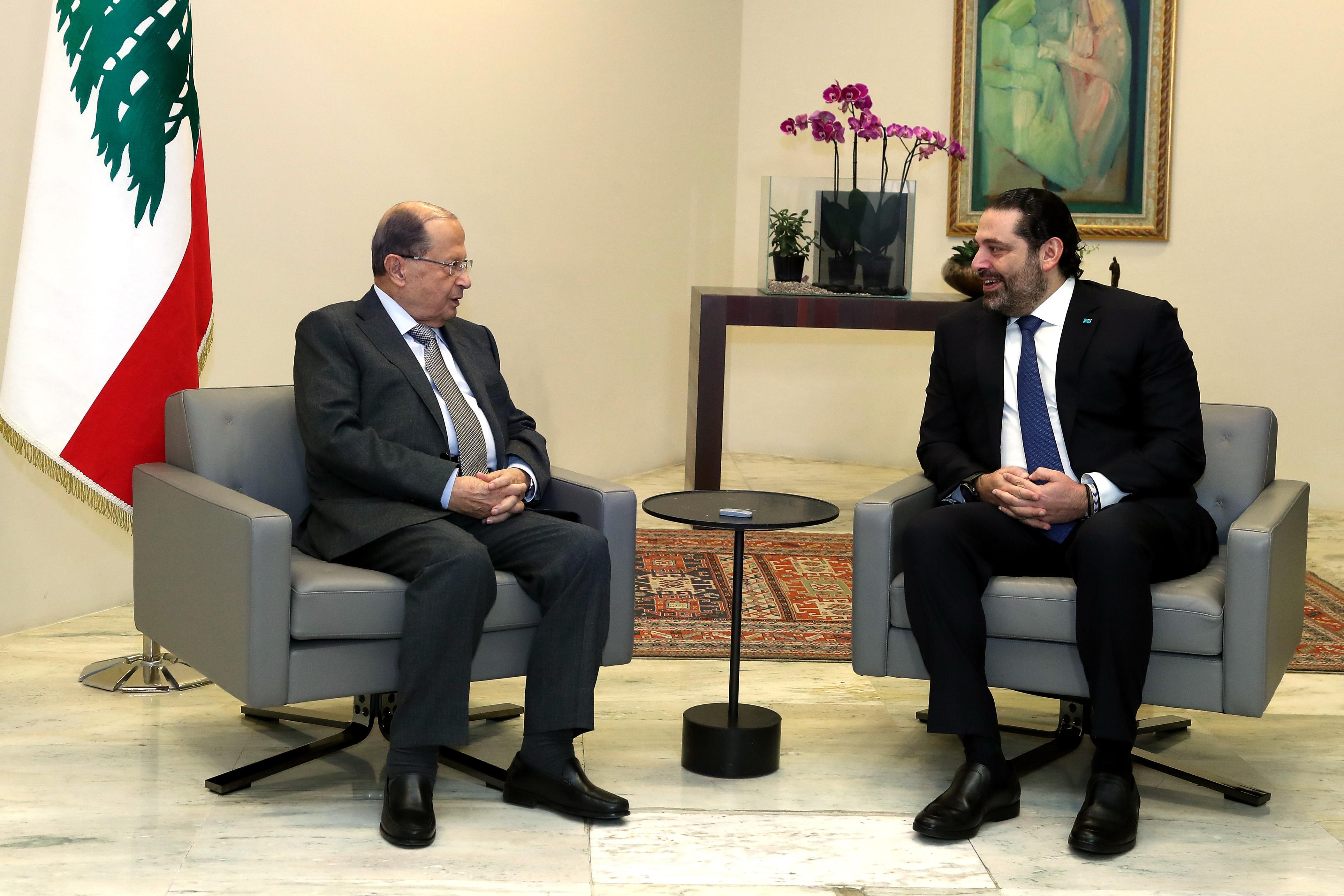 President Michel Aoun meets Pr. Minister Saad Hariri