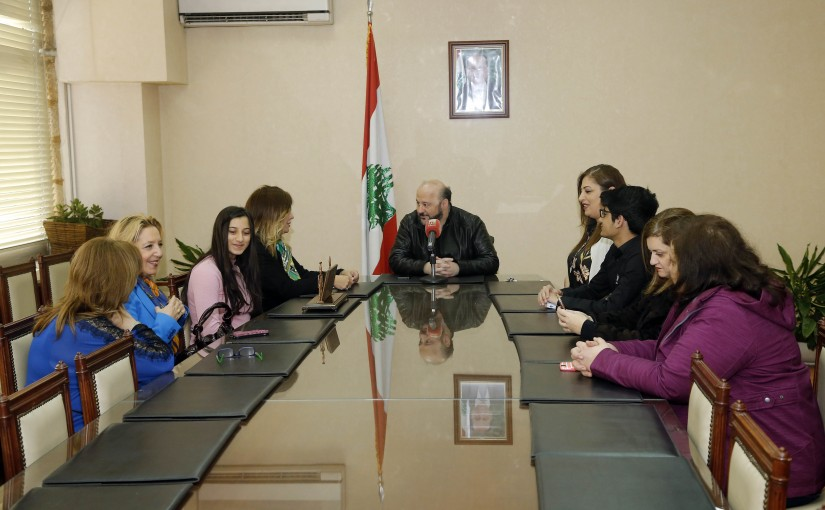 Minister Melhem Riachi meets a Delegation from Lebanese Students