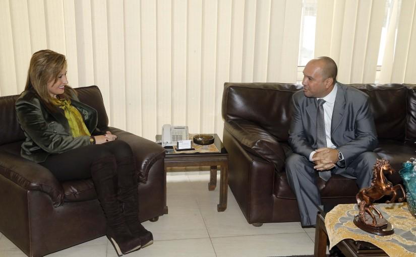 Mrs Laure Sleiman meets Cuba Ambassador