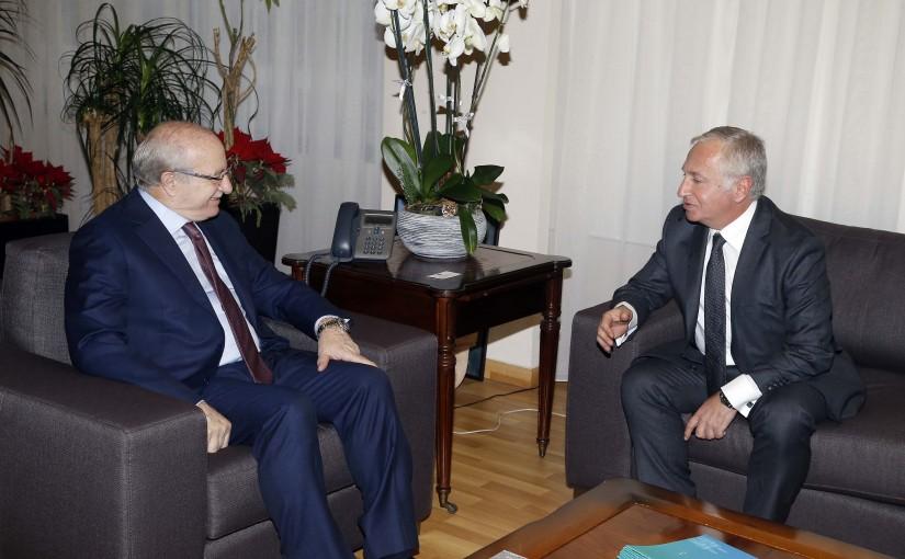 Minister Ghattas Khoury meets Armenian Ambassador
