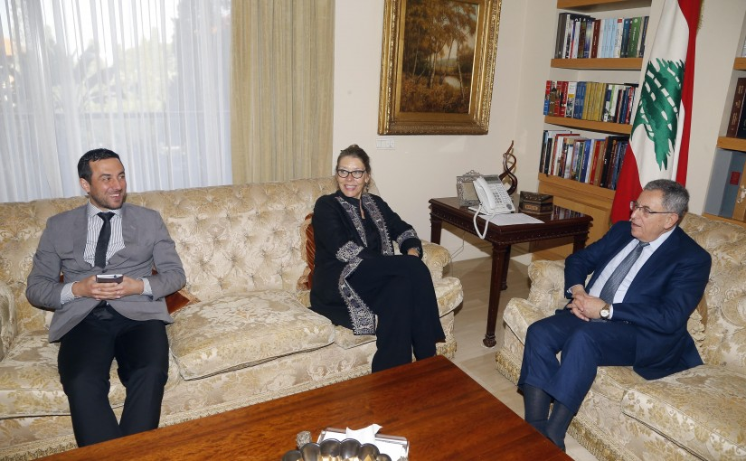 Former Pr Minister Fouad Siniora meets Mrs Pernille Cardel