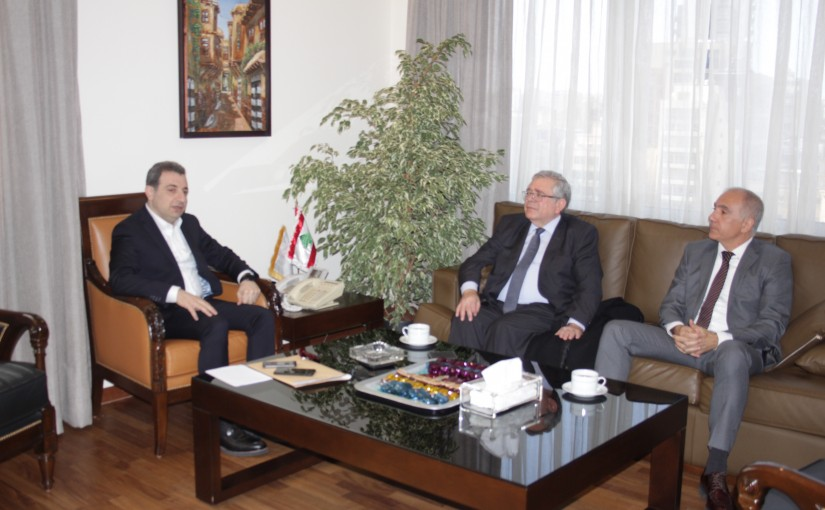 Minister Wael abou Faour meets Mr Fady Gemayel